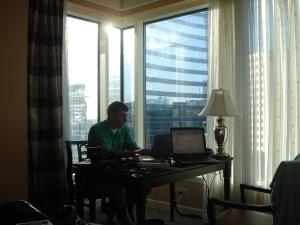 Mark, working hard!