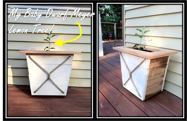 diy wood planter bench projects