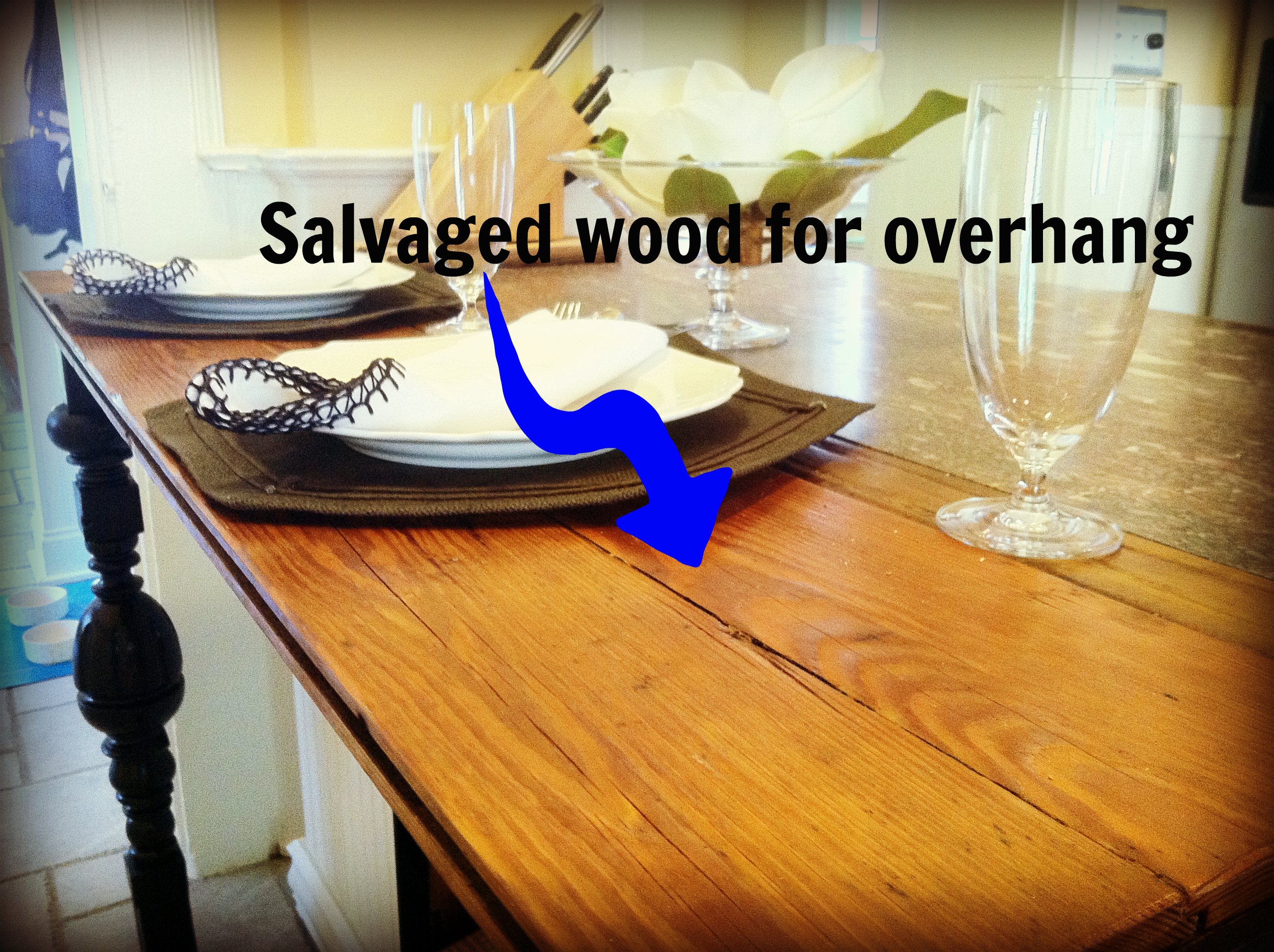 ^ how to renovate kitchen island  pieces of M.