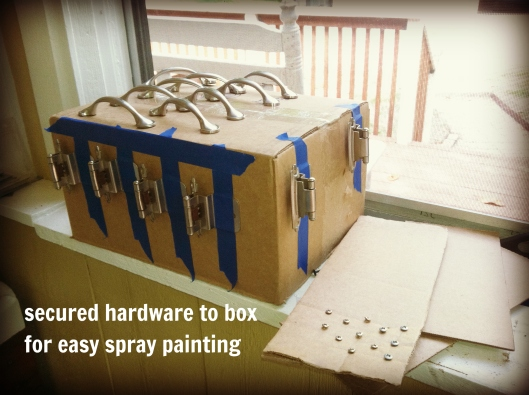 how to easily spray paint hardware